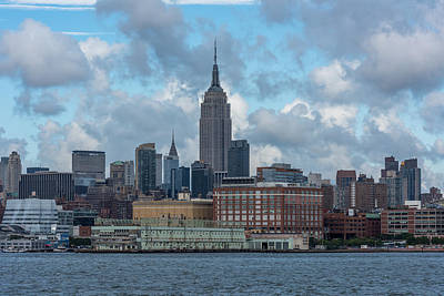 Photograph - Empire State Building Nyc From Hoboken Waterfront by Terry DeLuco