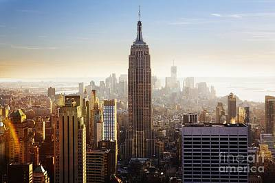 City Scenes Royalty-Free and Rights-Managed Images - Empire State Building by Edward Fielding