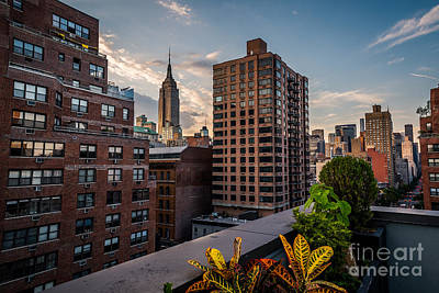 Photograph - Empire State Building Sunset Rooftop Garden by Alissa Beth Photography