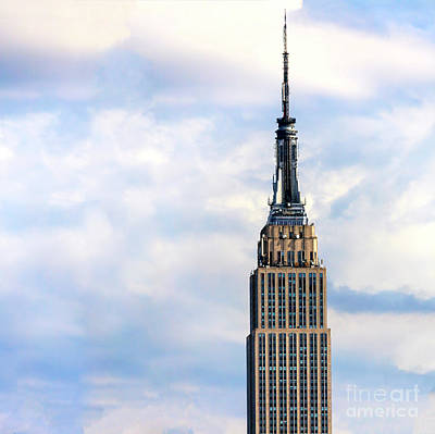 Photograph - Empire State Building Up Close by John Rizzuto