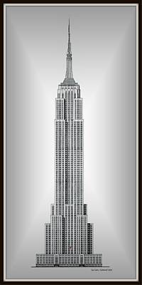 Limited Edition Mixed Media - Limited Edition Empire State Building - Vignetted Centered - Museum Matte by Gene Nelson