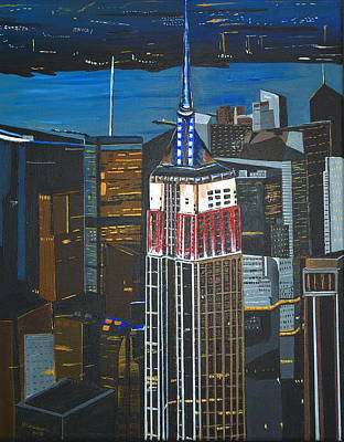 Painting - Empire State by Donna Blossom