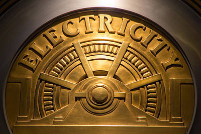 Photograph - Empire State Electricity Medallion by SR Green