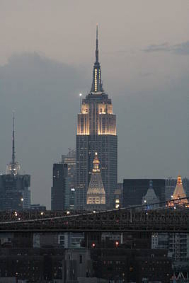 Photograph - Empire State From Brooklyn by Christopher Kirby