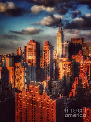 Photograph - Empire State In Gold by Miriam Danar