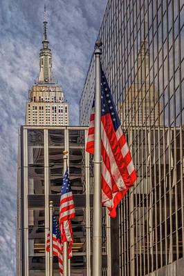 Photograph - Empire State Nyc Reflections by Susan Candelario