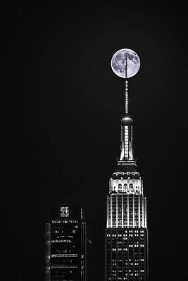 Photograph - Empire State Of Moon by Eduard Moldoveanu
