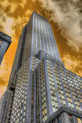 Empire State Of Orange Original by Mike  Deutsch