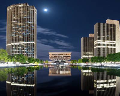 Photograph - Empire State Plaza by Brad Wenskoski
