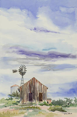 Tumbleweed Painting - Empire Yesterday by Jean Beck