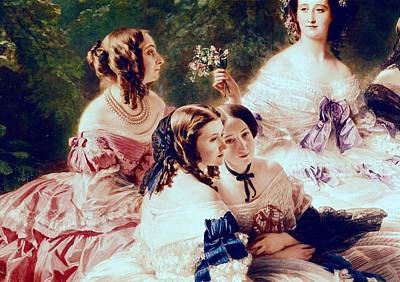 Empress Eugenie And Her Ladies In Waiting Art Print