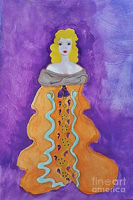 Purple Robe Painting - Empress In Gold by Pamela Williams