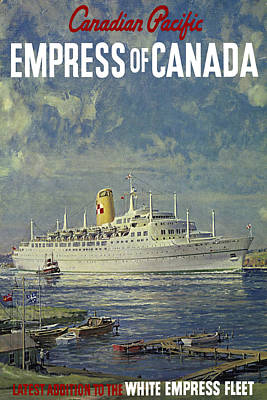 Photograph - Empress Of Canada 1961 by Andrew Fare