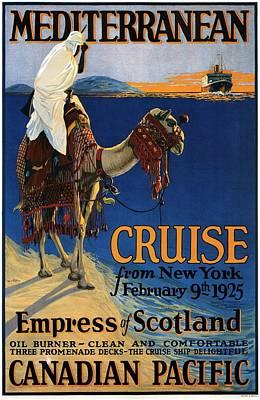 Camel Mixed Media - Empress Of Scotland - Canadian Pacific - Mediterranean Cruise - Retro Travel Poster - Vintage Poster by Studio Grafiikka