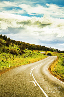 Asphalt Photograph - Empty Asphalt Road In Countryside by Jorgo Photography - Wall Art Gallery