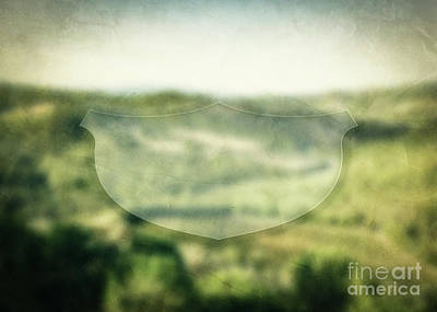 Photograph - Empty Banner For Inspirational, Motivational Message On Nature Blurred Background by Michal Bednarek
