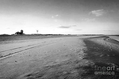 Photograph - Empty Beach At Sandy Hook In Bw by Debra Fedchin