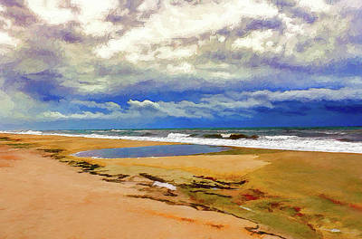 Painting - Empty Beach On The Outer Banks Ap by Dan Carmichael