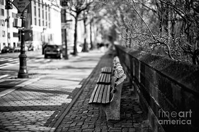 Photograph - Empty Bench On Central Park West by John Rizzuto