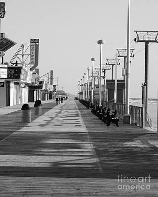 Seaside Heights Photograph - Empty Boards by Daniel Diaz