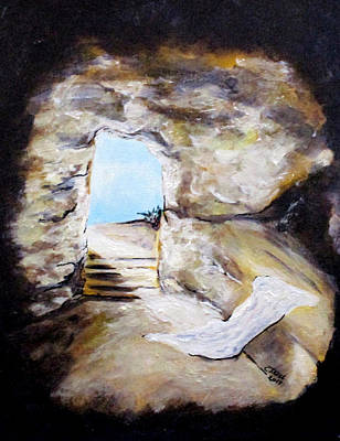 Painting - Empty Burial Tomb by Clyde J Kell