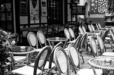 Photograph - Empty Cafe In Sorrento by John Rizzuto
