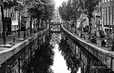 Photograph - Empty Canal In Amsterdam 2014 by John Rizzuto