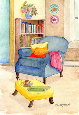 Bookshelf Painting - Empty Chair Series 1 by Melody Allen