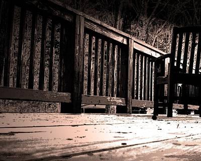 Photograph - Empty Chair by Steve Godleski