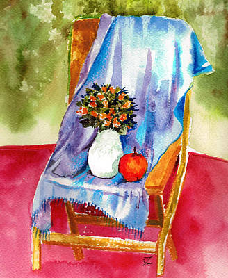 Colored Pencil Painting - Empty Chair by Zara GDezfuli
