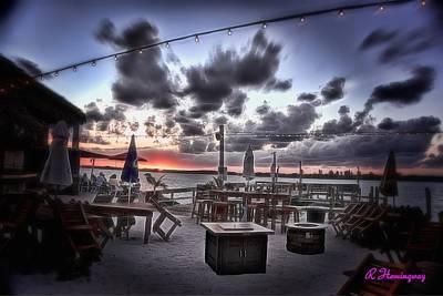 Restaurant Digital Art - Empty Chairs At Sunset by Richard Hemingway