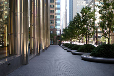 Photograph - Empty Chicago Sidewalk by Ely Arsha