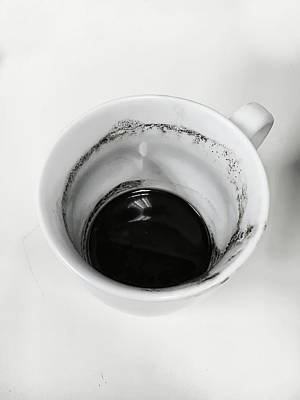 Messy Photograph - Empty Coffee Cup by Tom Gowanlock