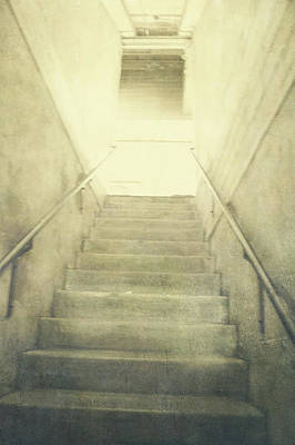Photograph - Empty Concrete Stairs To The Light Above by YoPedro