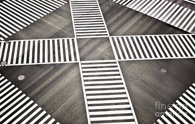 Empty Crosswalk Shibuya Crossing Art Print by Bryan Mullennix