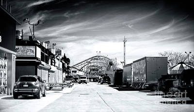 Photograph - Empty Cyclone At Coney Island by John Rizzuto