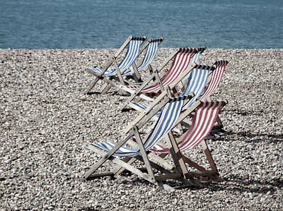 Photograph - Empty Deck Chairs by Helen Northcott