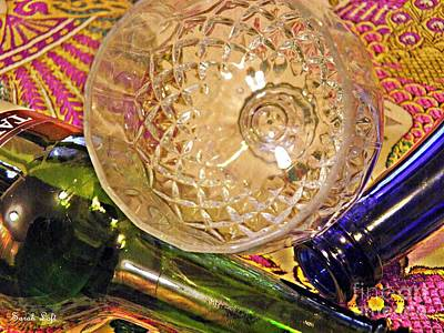 Wine Bottle Wall Art Photograph - Empty Glass by Sarah Loft