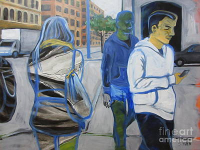 Painting - Empty Green World by Sandra Yuen MacKay