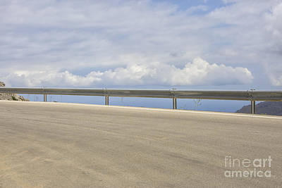 Express Way Photograph - Empty Highway Curve by Patricia Hofmeester