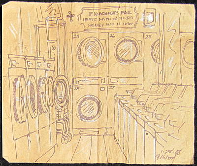 Empty Laundromat Original by Radical Reconstruction Fine Art Featuring Nancy Wood