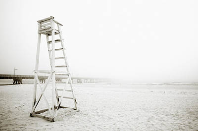 At Peace Photograph - Empty Life Guard Tower 1 by Skip Nall