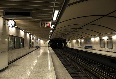 Photograph - Empty Metro Station by Radoslav Nedelchev