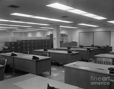 Empty Office, C.1950-60s Art Print by H. Armstrong Roberts/ClassicStock