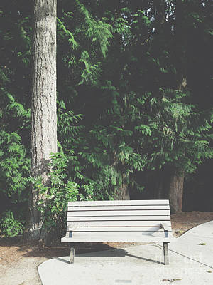 Photograph - Empty Park Bench by Bryan Mullennix