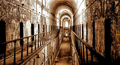 Photograph - Empty Prison Cells In A Row by Paul W Faust - Impressions of Light