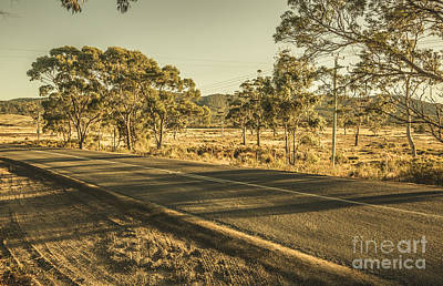 Photograph - Empty Regional Australia Road by Jorgo Photography - Wall Art Gallery