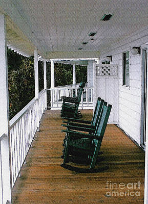Rocking Chairs Photograph - Empty Retirement by Methune Hively