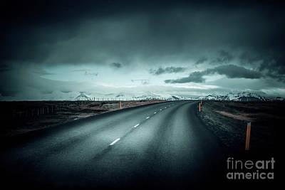 Empty Road Print by Svetlana Sewell