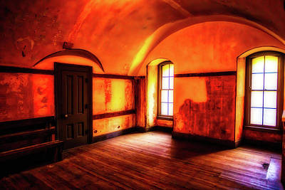 Colorful Buildings Photograph - Empty Room by Garry Gay
